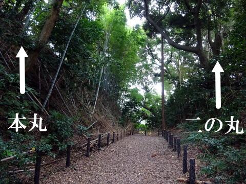 掛川古城の堀