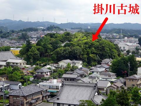掛川古城の遠景