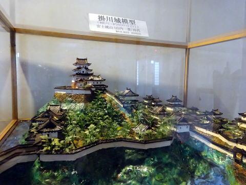 掛川城の模型