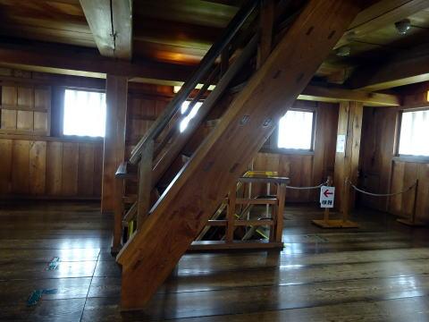 掛川城の階段