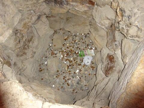 浜松城天守内の井戸の中